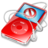 48x48px size png icon of ipod video red no disconnect