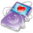 48x48px size png icon of ipod video violet favorite