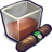 48x48px size png icon of Brown Liquid Filled Glizass With Cigar
