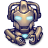 48x48px size png icon of Comics Hero Grey