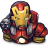 48x48px size png icon of Comics Ironman Red