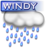 48x48px size png icon of Windy rain
