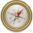 48x48px size png icon of Compass Gold