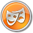 48x48px size png icon of Theater Yellow