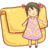 48x48px size png icon of Hp folder girl