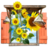 48x48px size png icon of Flowers Sunflowers Window