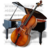 48x48px size png icon of Music Piano Chello