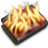 48x48px size png icon of Burn