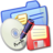 48x48px size png icon of Folder Blue Backups