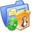48x48px size png icon of Folder Blue Software Linux