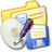 48x48px size png icon of Folder Yellow Backups