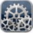 48x48px size png icon of settings blue glow