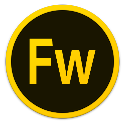 512x512px size png icon of Adobe Fw