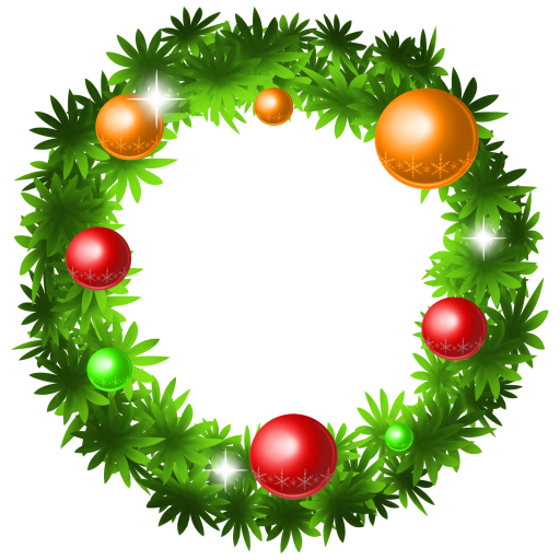 512x512px size png icon of christmas wreath