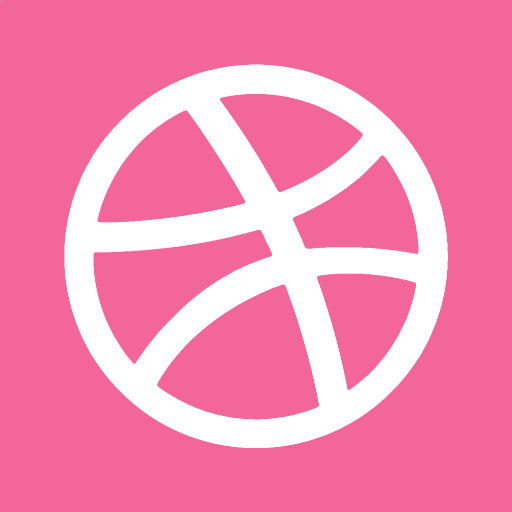 512x512px size png icon of dribbble