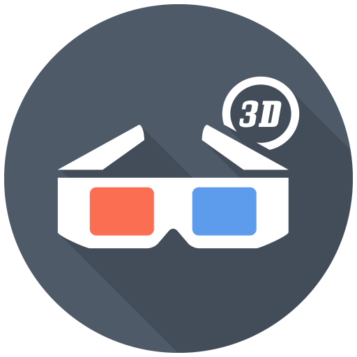 512x512px size png icon of 3D Glasses