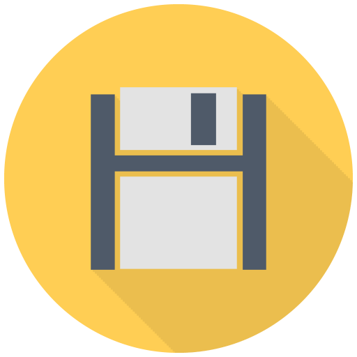 512x512px size png icon of Black Floppy