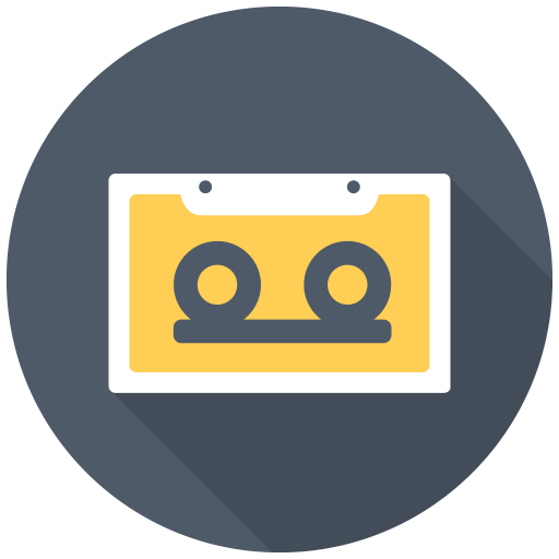 512x512px size png icon of Cassette