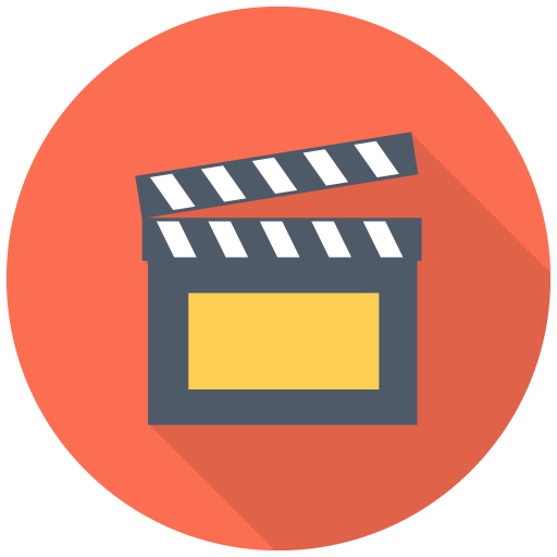 512x512px size png icon of Clapper
