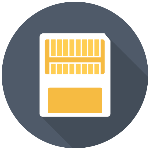 512x512px size png icon of Memory Card