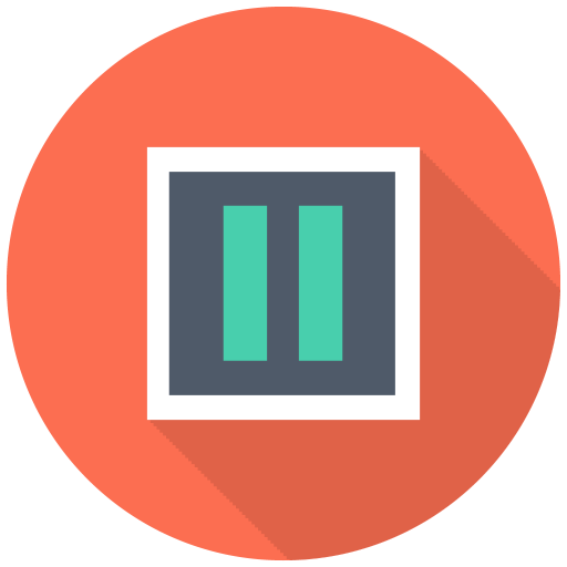 512x512px size png icon of Pause