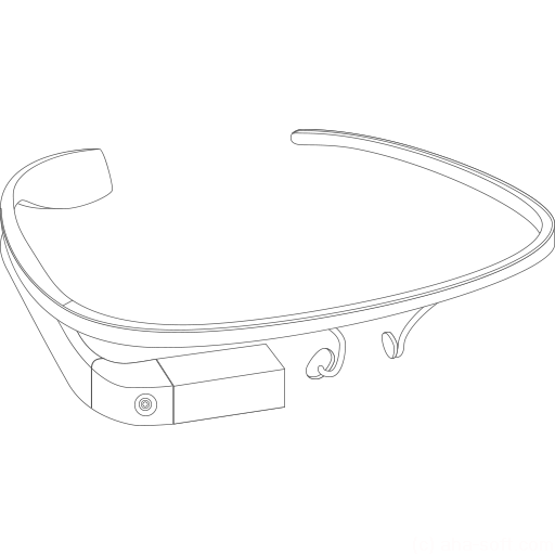 512x512px size png icon of Google Glass construction