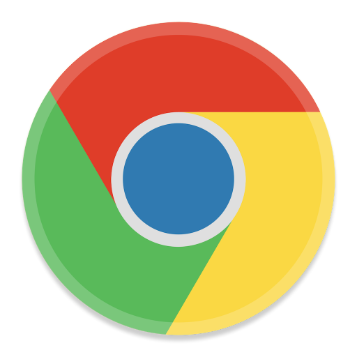 512x512px size png icon of Google Chrome