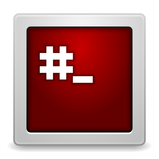 512x512px size png icon of Apps gksu root terminal