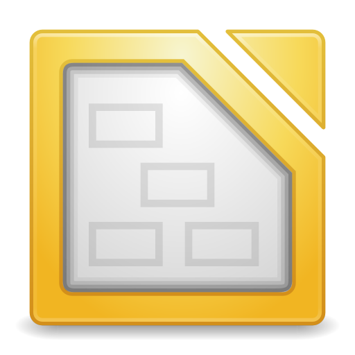 512x512px size png icon of Apps libreoffice draw