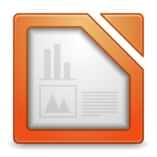 512x512px size png icon of Apps libreoffice impress