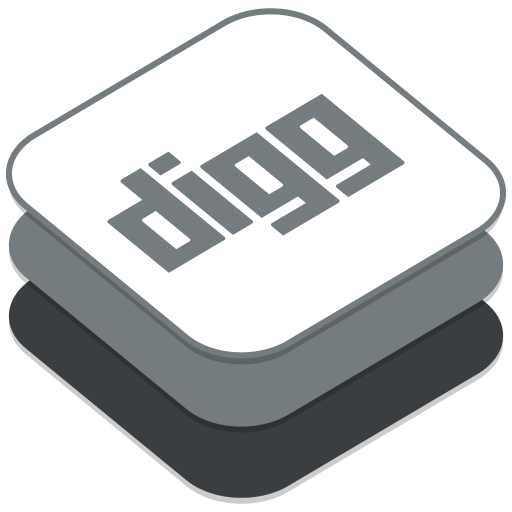 512x512px size png icon of Digg