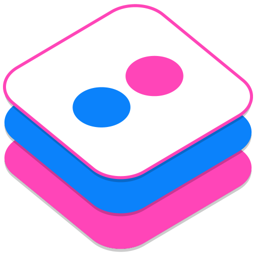 512x512px size png icon of Flickr 2