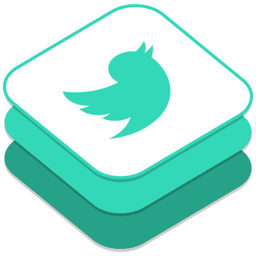 512x512px size png icon of Twitter