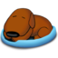64x64px size png icon of Sleeping Old Dog