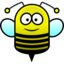 64x64px size png icon of bee