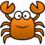64x64px size png icon of crab