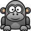 64x64px size png icon of gorilla