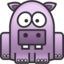 64x64px size png icon of hippo