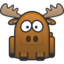 64x64px size png icon of moose