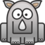64x64px size png icon of rhino