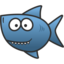 64x64px size png icon of shark