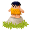 64x64px size png icon of Caveman rock 2