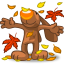 64x64px size png icon of I Love Autumn