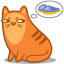64x64px size png icon of cat slippers