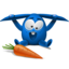 64x64px size png icon of blue rabbit