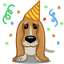 64x64px size png icon of dog birthday