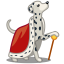 64x64px size png icon of dog dalmatian king