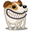 64x64px size png icon of dog russel grin