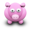 64x64px size png icon of PinkCow