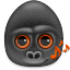 64x64px size png icon of monkeys audio